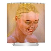 Young Maria Shower Curtain