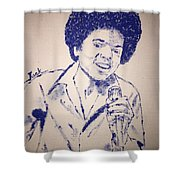 Young Michael Jackson Shower Curtain
