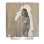 Young Model Shower Curtain