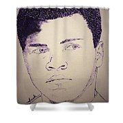 Young Muhammad Ali Shower Curtain