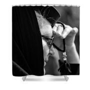 young Orthodox  nun. Shower Curtain