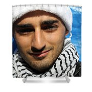 Young Palestinian Man Shower Curtain