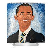 Young President Obama Shower Curtain
