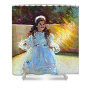 Young Queen Esther Shower Curtain by Talya Johnson