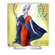 Young Queen Of Space Alien Civilization Shower Curtain