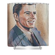 Young Ronald Reagan Shower Curtain