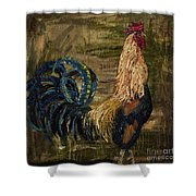 Young Rooster Shower Curtain