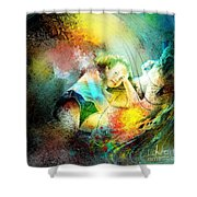 Young Seduction Shower Curtain