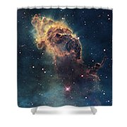 Young Stars Flare In The Carina Nebula Shower Curtain