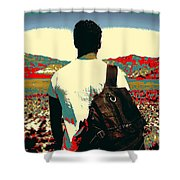 Young Traveller Shower Curtain