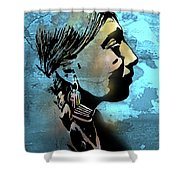 Young Wishram Woman Shower Curtain