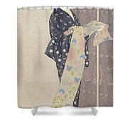 Young Woman In A Summer Kimono, 1920 Shower Curtain