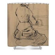 Young Woman Seated At A Piano [verso] Shower Curtain