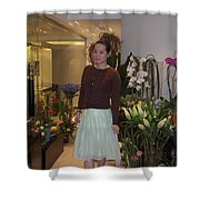Young Women In Spring Shower Curtain
