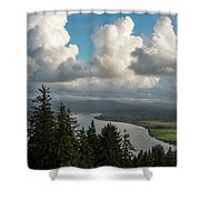 Youngs Bay And Clouds Shower Curtain