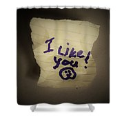 Your 1st Love Note Shower Curtain
