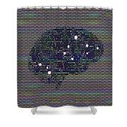Your Brain On Bad Tv Shower Curtain