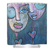 Your Haunted Heart And Me Shower Curtain