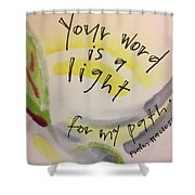 Your Word Is A Light Shower Curtain