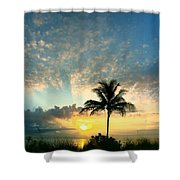 You're Never Alone With A Sunrise Shower Curtain
