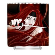 You're Next Shower Curtain by Sandra Hoefer
