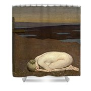 Youth Mourning Shower Curtain