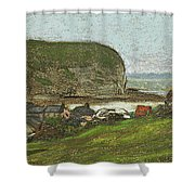 Yport And The Falaise D'aval Shower Curtain
