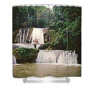 Ys Falls Jamaica Shower Curtain
