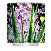 Yucca Flower Plant Southwestern Art Shower Curtain