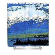 Yukon Mountain Range 3 Shower Curtain