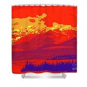 Yukon Mountain Range 4 Shower Curtain