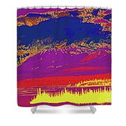 Yukon Mountain Range 7 Shower Curtain