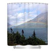 Yukon Rainbow Shower Curtain by Barbara Von Pagel