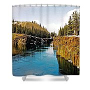 Yukon River And Miles Canyon - Whitehorse Shower Curtain