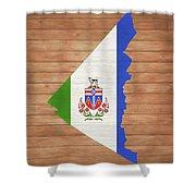Yukon Rustic Map On Wood Shower Curtain
