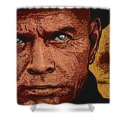 Yul Brynner Shower Curtain by Antonio Romero