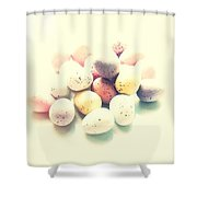 Yummy Mini Eggs Shower Curtain