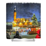 Yury Bashkin Tallinn New Year Shower Curtain