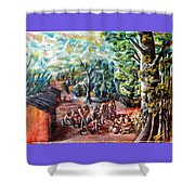 Thanks-giving In A Sacred Shrine Shower Curtain
