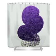 z1211a Poise 2 Shower Curtain