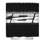 Z28 Logo Noir Shower Curtain