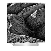 Zabriskie Point Badlands - Death Valley Shower Curtain