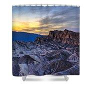 Zabriskie Point Sunset Shower Curtain