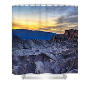 Zabriskie Point Sunset Shower Curtain