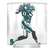 Zach Ertz Philadelphia Eagles Pixel Art 1 Shower Curtain