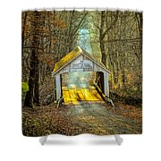 Zacke Cox Covered Bridge Shower Curtain