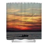 Zadar Sunset Shower Curtain