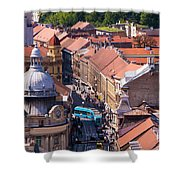 Zagreb Afternoon Shower Curtain