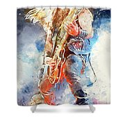 Zakk Wylde - Watercolor 09 Shower Curtain