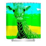 Zany Giraffe Shower Curtain